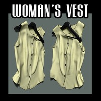 3d lain woman s vest model