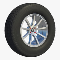 3d model wheel rim spoke