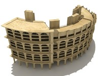 roman style building 3d model