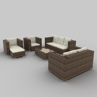 Rattan Seat Set 09