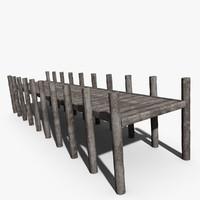 3d wooden pier