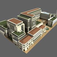 3d british colonial complex model
