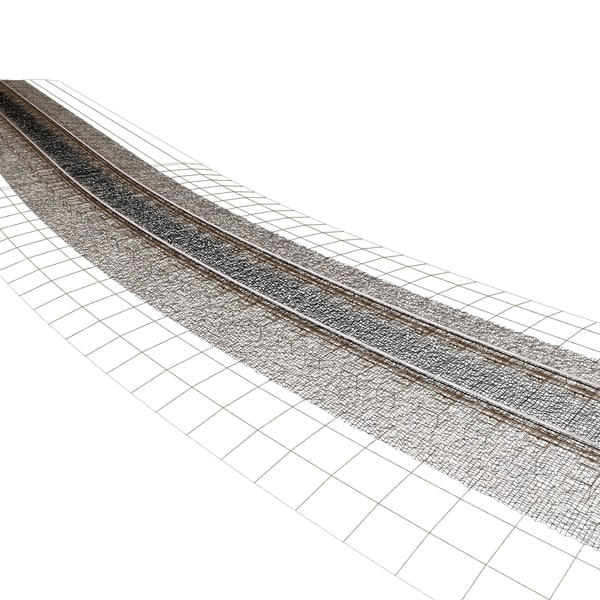 tracks 3d max - Railroad Track... by 3d_artisan