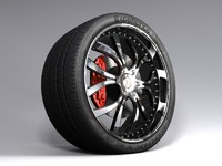 free fbx mode vehicle wheel
