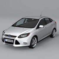 focus sedan 2012 3d model