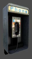 phone phonebooth 3d model