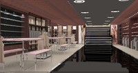 shopping designs 3d max