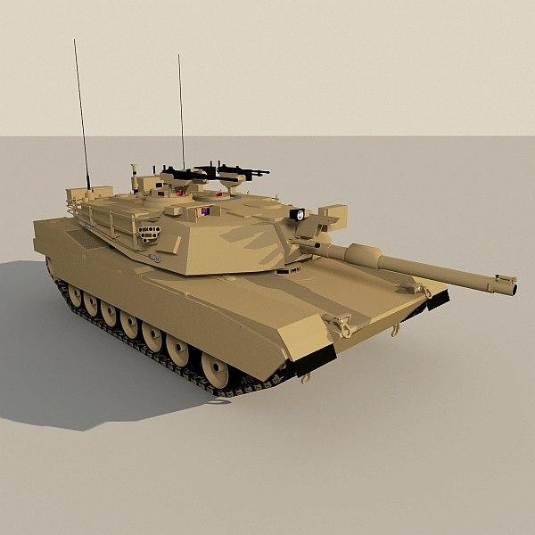 Abrams Low-poly base model