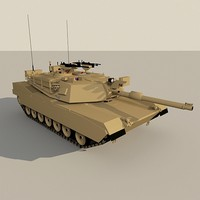 abrams low-poly tank 3d model