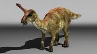 3d tsintaosaurus dinosaur