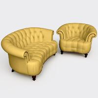 3d natuzzi furniture 1973
