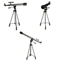 tripods telescopes 3d model