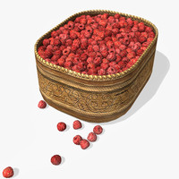 free berry birch box raspberry 3d model