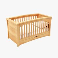 3d baby cot model