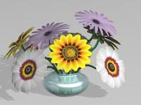 maya daisies vase