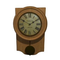 3d clock grandfather model