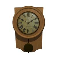 3d clock grandfather model
