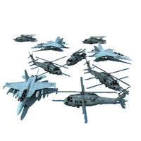 f aircraft 3d obj