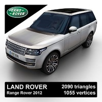 2012 land rover range 3d max