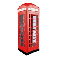 english telephone box 3d model