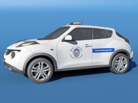 3d model turkish police car nissan