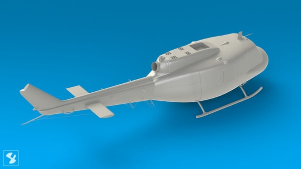 3d model surface solidworks - UH1-H Fuselage Alone... by designcube