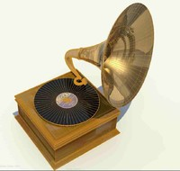 phonograph record player 3d model
