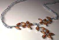 3d amber necklace model