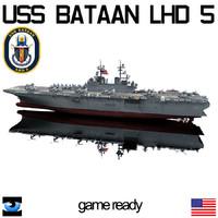 uss bataan lhd-5 3d 3ds