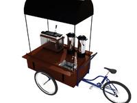 3d model cafe cart