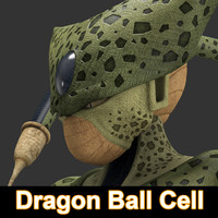 3d model dragon ball cell