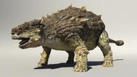 3d ankylosaurus dinosaur model