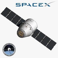 d model spacex dragon space