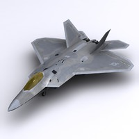 3d model f-22 raptor fighter f-22a