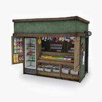 3d model magazine kiosk