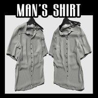3d model lain man s shirt