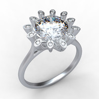 engagement ring 2 3d fbx