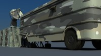 container satellite military 3d 3ds
