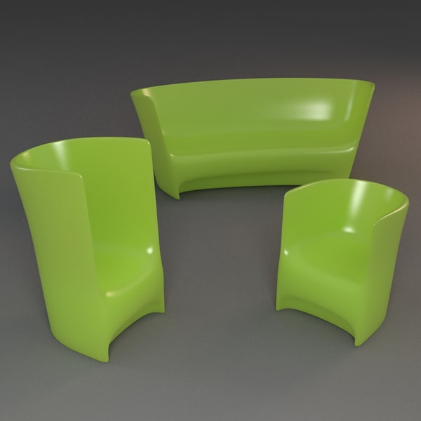 3d plastic outdoor - Plastic Seating... by mmvis