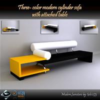 3d model of modern sofa