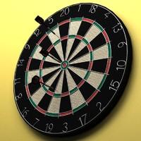 dartboard darts 3d model