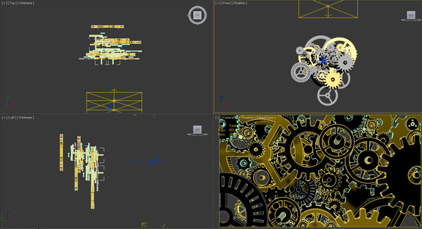 clock wheels 3d max - Clock Wheels... by Brky