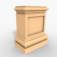 3d model interior plinth block