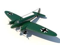 3d heinkel 111 bomber