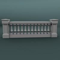 3ds balustrade architectural