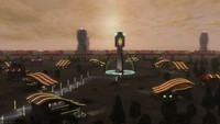 futuristic town 3d max