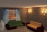 evening room 3d model