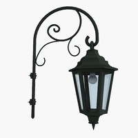 3d model of street lamps light