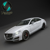 3d mercedes benz cls brabus model