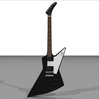 cinema4d gibson explorer guitar